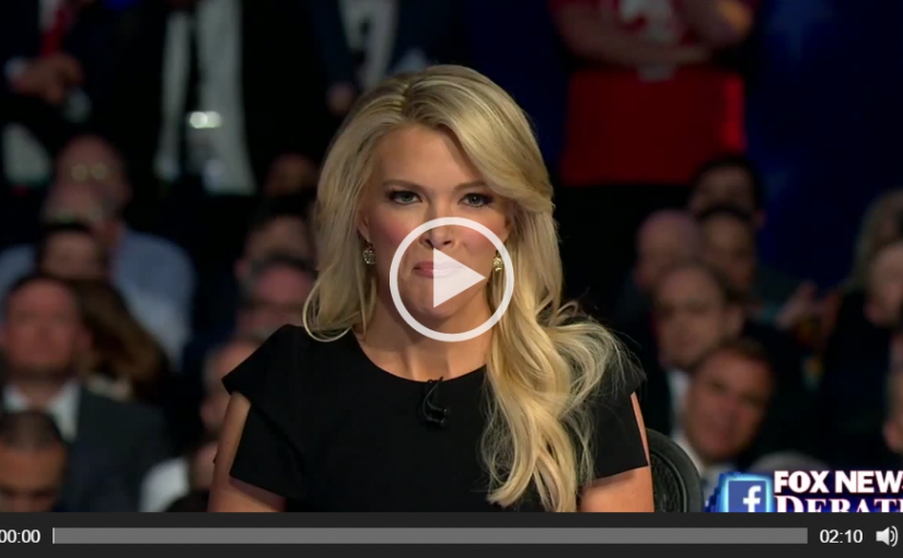Megyn Kelly Addressing Donald Trump's Sexism with 24 Million Watching!